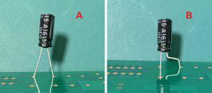 アルミ電解コンデンサ実装方法